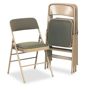 "Bridgeportâ""¢ Deluxe Padded Seat and Back Folding Chair - CSC36885CVT4"