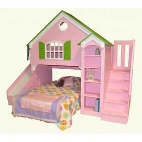 Twin Over Twin Bunk Beds With Stairs Ideas On Foter