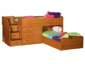 Chelsea home twin over full l shaped bunk bed with