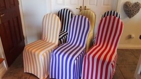 Dining Room Chair Covers - Striped (Black Stripe) Other Stripey Covers Available