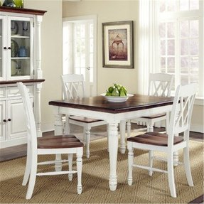 Home Styles Home Styles Monarch Double X-Back Dining Chairs - Set of 2 - White & Oak
