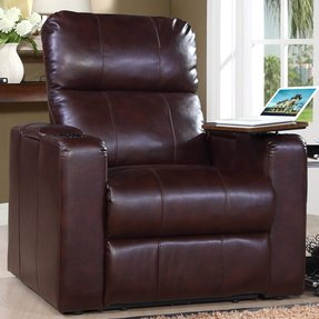 Home Theate Recliner with Miami Hurricanes Logo