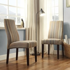 Striped Accent Chair With Arms Foter