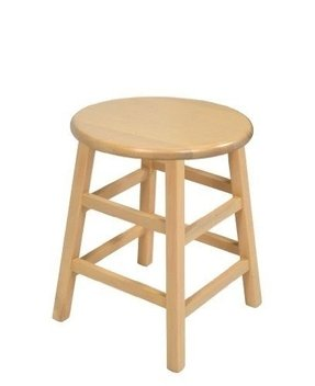 John Boos 18-Inch Natural Birch Collegiate Stool