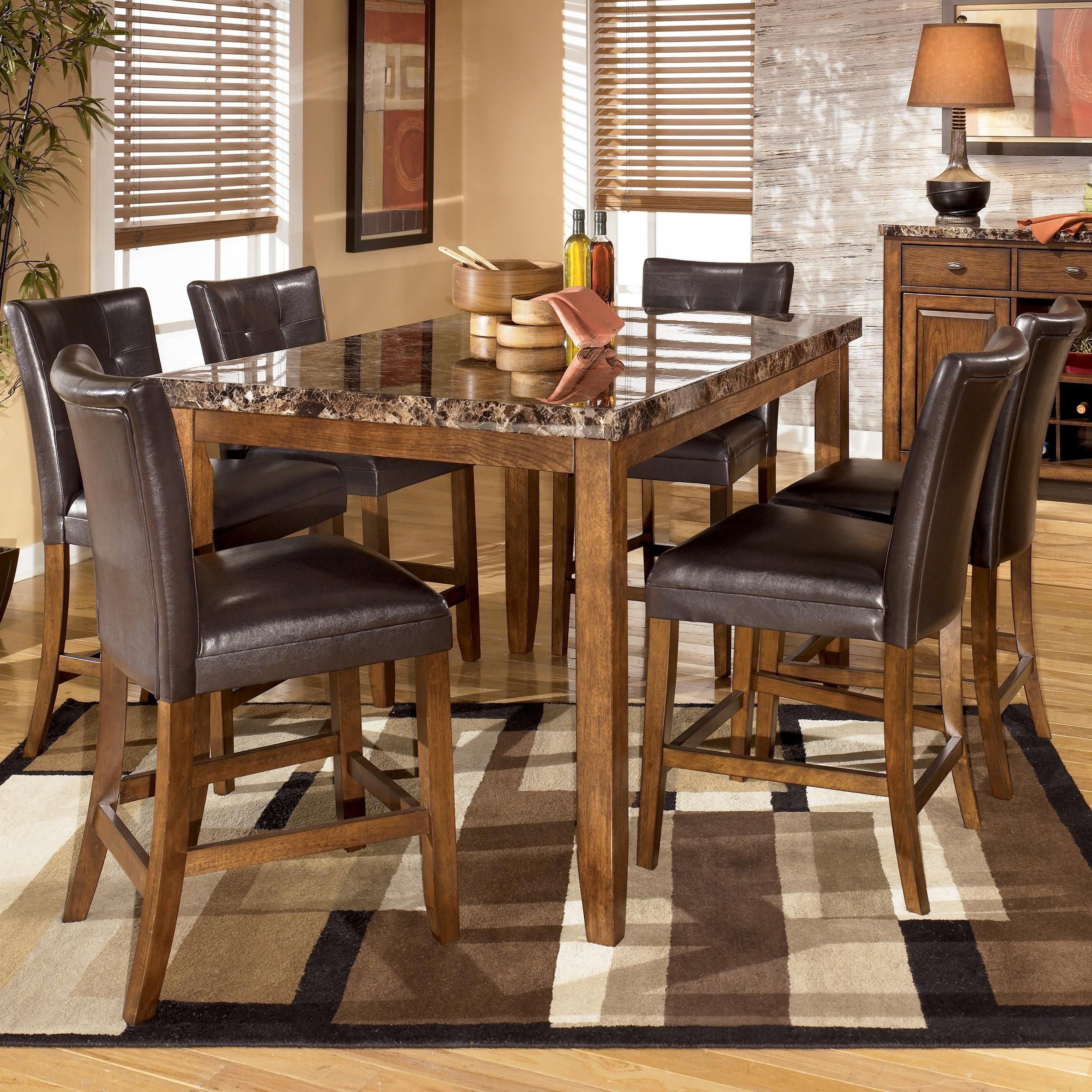 Lacey 7 Piece Rectangular Counter Height Dining Set