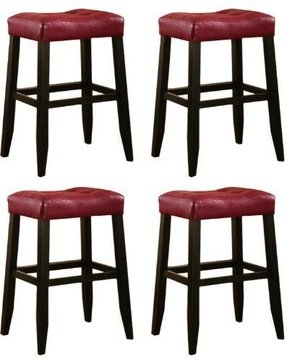 Beautiful Leather Saddleback Bar Stools
