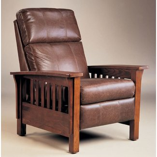 Montana Hi-Leg Recliner by Lane - Warm Oak Finish (2769)