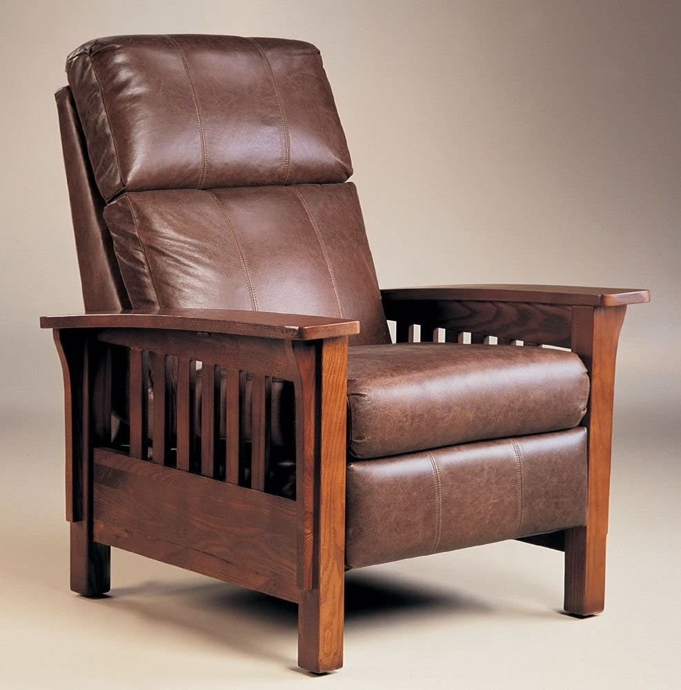 Montana Hi-Leg Recliner by Lane - Warm Oak Finish (2769) : wooden recliner chairs - Cheerinfomania.Com