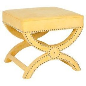 Mystic Upholstered Ottoman Color: Yellow