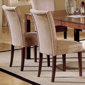 Parson classic peat microfiber side chairs set of 2 2