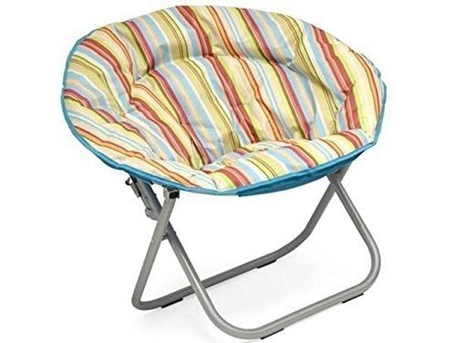 Plush Padded Folding Moon Saucer Chair For Kids And Adults. Large, Round,  Multiple
