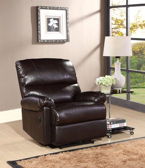 Pulaski Colin Power Recliner, Aspen Bonded Leather Chocolate