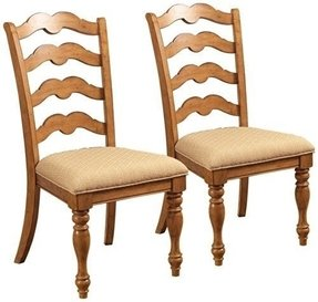 Set of 2 Hillsdale Hamptons Weathered Pine Side Chairs