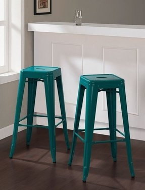 Beautiful Modern Blue Bar Stools