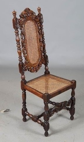 65068eebb9c81 Six Antique French Carved Dining Chairs