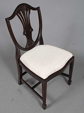 Six Shield Back Dining Chairs in Mahogany