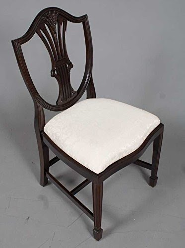 Bon Six Shield Back Dining Chairs In Mahogany