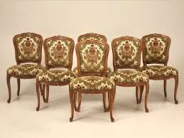 Six Vintage French Louis XV Cherry Wood Dining Room Side Chairs