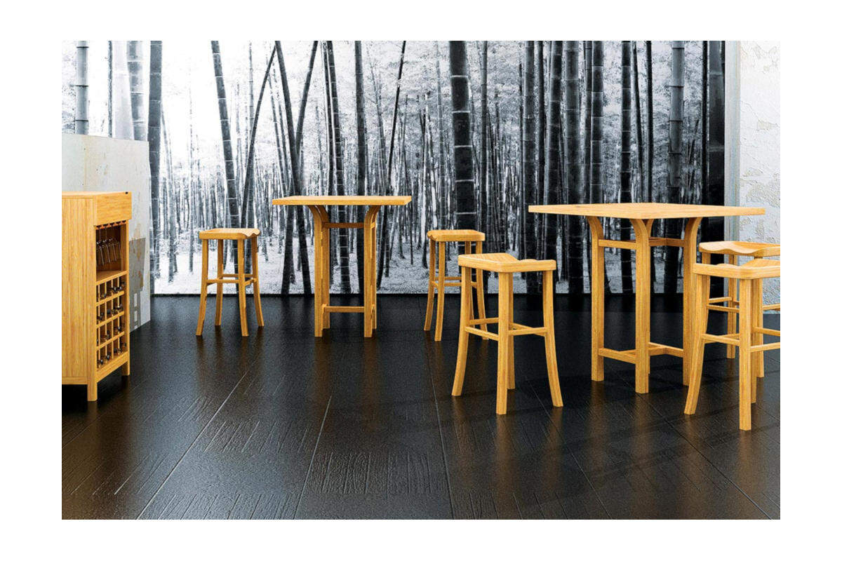 Tulip Counter Height Dining Bamboo Table Modern Bar Tables