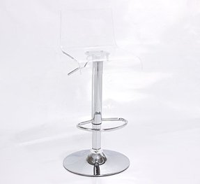 2 x Acrylic Hydraulic Lift Adjustable Counter Bar Stool Dining Chair Clear -Pack of 2 (2012)