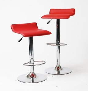 2 x Vinyl Air Lift Adjustable Swivel Bar Stools Pack of 2 2002