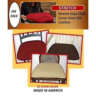 6 COVERS!! Dining Room Chair Covers, Ez Chair Covers Pk of 6 Wine Red