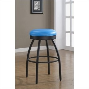 American Heritage Billiards Manhattan Counter Height Bar Stool, 26-Inch, Blue