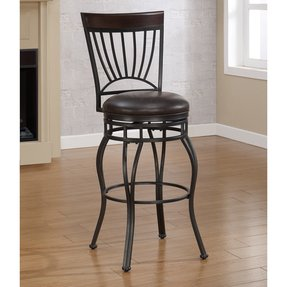 American Woodcrafters American Woodcrafters Horizon Extra Tall Bar Stool - Charcoal, French Roast, Metal