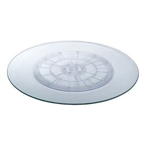 Astonica 20 inch Rotating Lazy Susan With Ice Texture Glass For Patio Table