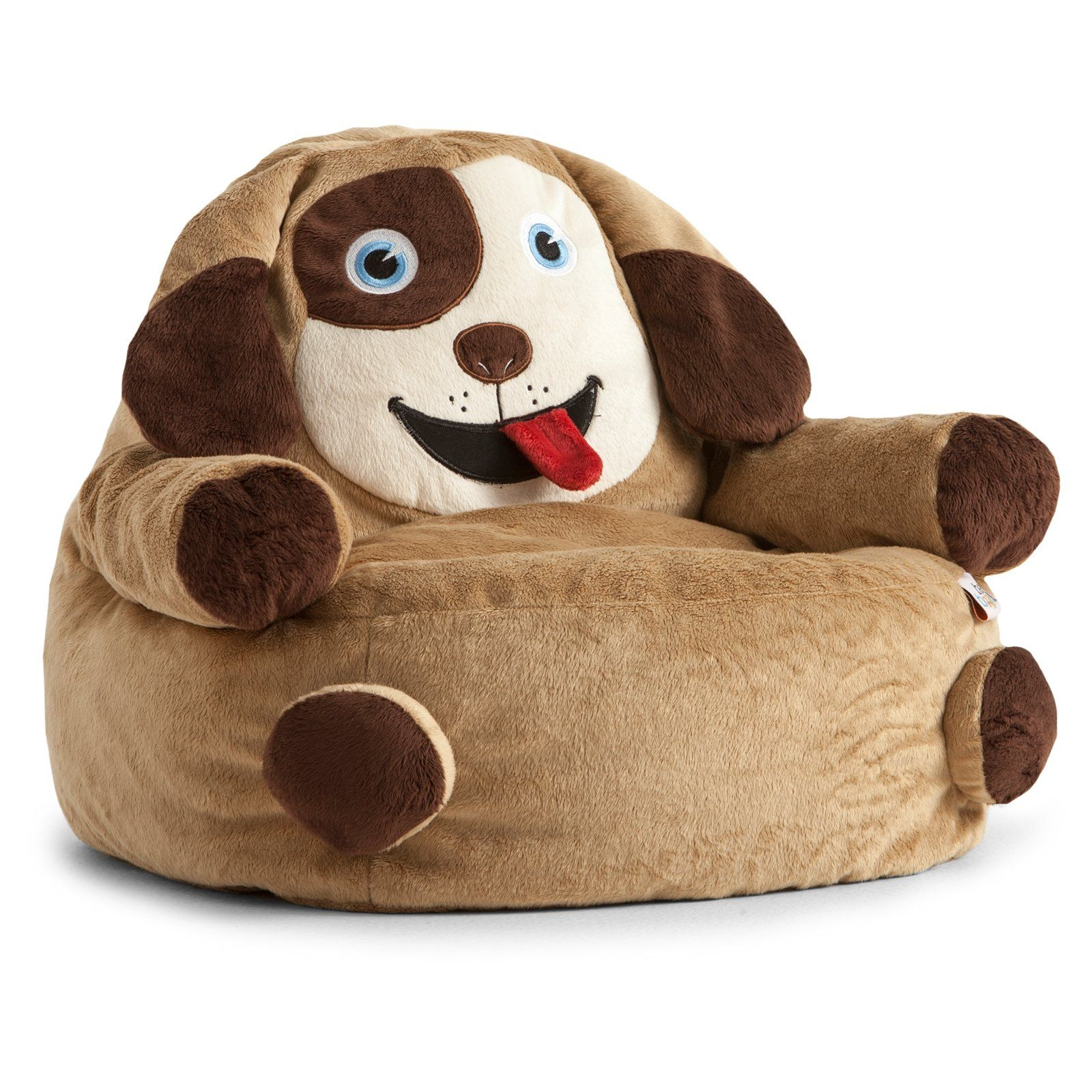 Amazing Bagimals Comfort Research Bagimals Arm Chair Bean Bag   Dog, Brown,  Polyester Cover