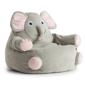 Bagimals Comfort Research Bagimals Arm Chair Bean Bag - Elephant, Gray, Polyester Cover