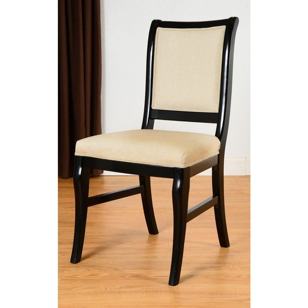 Beechwood Mountain Fully Assembled Italian Side Chair In Black Finish For  Kitchen And Dining