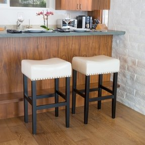 Wondrous White Leather Bar Stools Ideas On Foter Andrewgaddart Wooden Chair Designs For Living Room Andrewgaddartcom