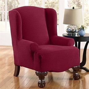 Brylanehome Scenario Stretch Diamond Wing Chair Slipcover