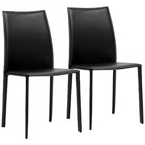 Claudio Brown 18-Inch-W Set of 2 Dining Chairs