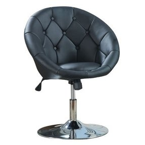 Coaster 7060 Round Back Swivel Chair, Hydraulic Lift & Tilt Tension -Black