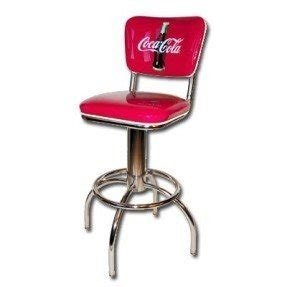 Coca-Cola Diner Barstool with Swivel Back 24 inch