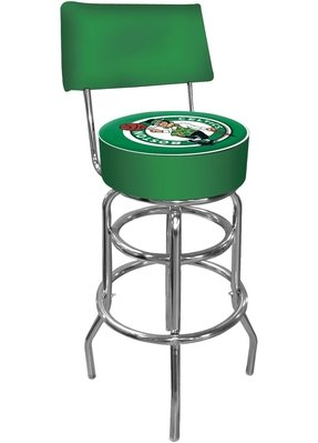 Coca-Cola Padded Swivel Bar Stool with Back