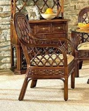 Coco Cay Rattan Dining Arm Chair in Urban Mahogany (641)