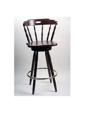Colonial Style Swivel Bar Stool In Solid Beech Wood Honey Oak