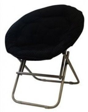 Comfy Corduroy Moon Chair - Black