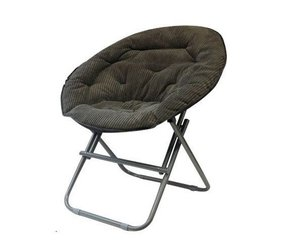 Comfy Corduroy Moon Chair - Sage Gray