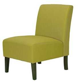 Cortesi Home Chicco Citron Armless Accent Chair, Linen Green