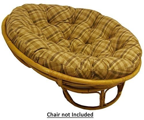 Cotton Craft   Plaid Reversible Papasan   Tan   Overstuffed Chair Cushion    Sink Into Our