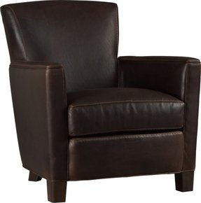 Crate and Barrel Briarwood Leather Chair