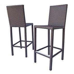Dola All Weather Outdoor Resin Wicker Counter Height Bar Stool 31 Seat