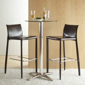 Eurostyle Shelby 30 Inch Seat Height Leather Bar Stool (set of 2)