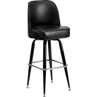 Flash Furniture Metal Bar Stool with Swivel Bucket Seat