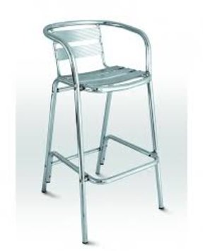 Outdoor Aluminum Bar Stools With Backs Aluminum Bar