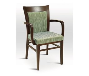 Florida Seating CN822A Upholstered Indoor Dining Chair with Arms, CN-822A, CN 822A, CN822A